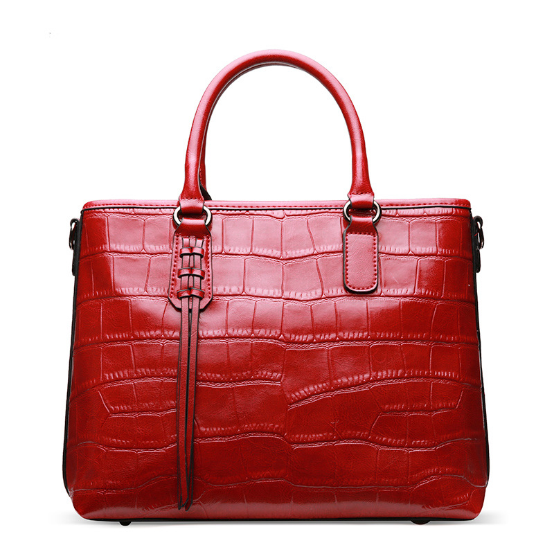 European and American Style Women's Split Leather Handbags Ladies Fashion Stone Grain Leather Tote Purse Female Crossbody Bags european and american 2017 new lychee grain 100