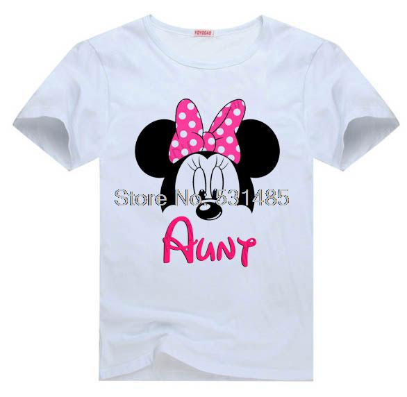 T Shirt Mouse Ears Aunt Of Birthday Boy Personalized Party For Toddler Kids Children Girl Cartoon