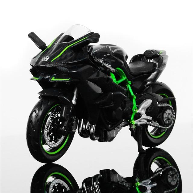 escala 1 18 maisto kawasaki ninja h2r modelos de carros de corrida de moto mini moto ve culo. Black Bedroom Furniture Sets. Home Design Ideas