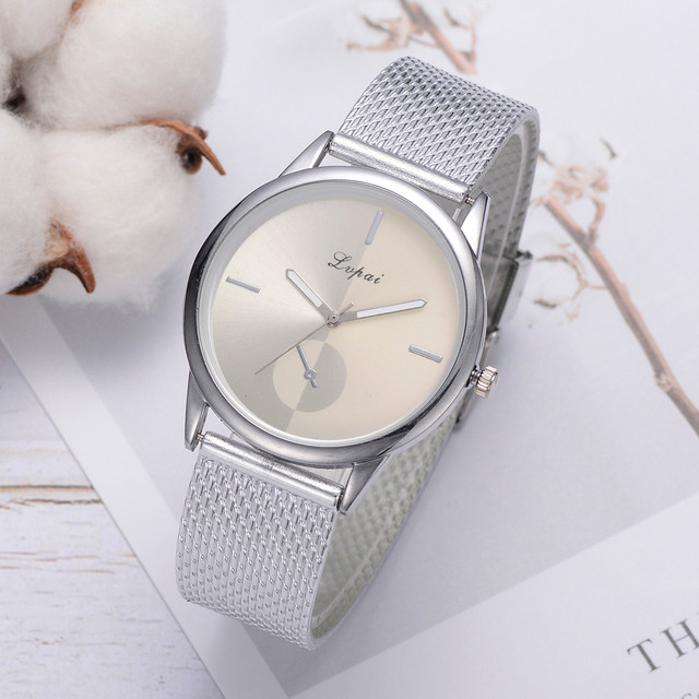 Lvpai Women's Casual Quartz Silicone strap Band Watch Analog Wrist Watch Rose Gold Girls Gold ladies Hot Sale Flowers Dress 2