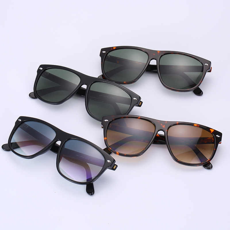 3841a60de ... Real G15 glass lens oversize sunglasses men women retro Luxury design Brand  acetate frame big size ...