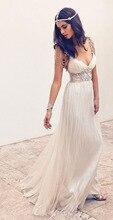 Exquisite V-ausschnitt Lange Abendkleider Sleeveless mit Perlen Spaghetti-trägern Benutzerdefinierte Abschlussball-partei-kleider vestidos de festa