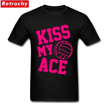 Shirt camiseta KISS MY ACE Couple New T Shirt Design Short Sleeve Crewneck Cotton Big Size