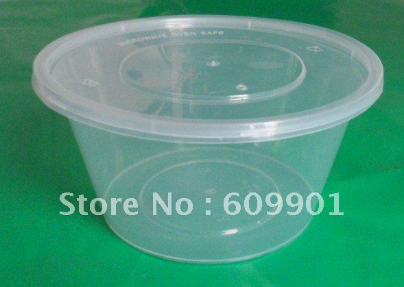 800ml Disposable Microwave Plastic Food Container Bowl With Lid