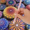 16 Piece Pottery Mandala Painting Dotting Tools Pottery Sculpture Rock Painting Mandala Art Embossing Art Carving Modeling Tool
