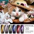 1 unids Bluesky Nueva CAT EYE Gel UV LED Nail Polish, Mejores Modelos Perferct 100% GenuineNew Marca de Uñas Camaleón arte de Uñas de GEL
