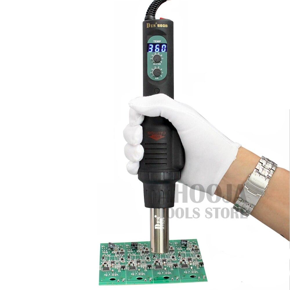 Centrale de dessoudage réglable de ventilateur d'air chaud d'affichage numérique de pistolet à chaleur à température constante DES PortPortable 560 W 110 V/220 V