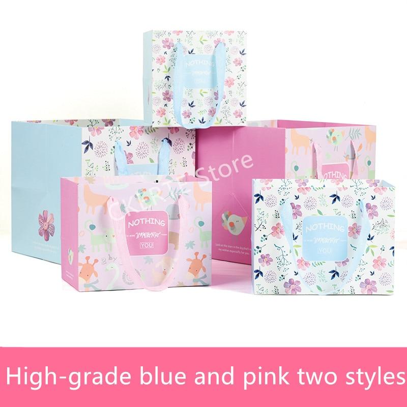 20pcs Handbag Shopping Bag paper Candy box Gift Bags With Handles Luxury Handbag Wedding party Birthday gift bag