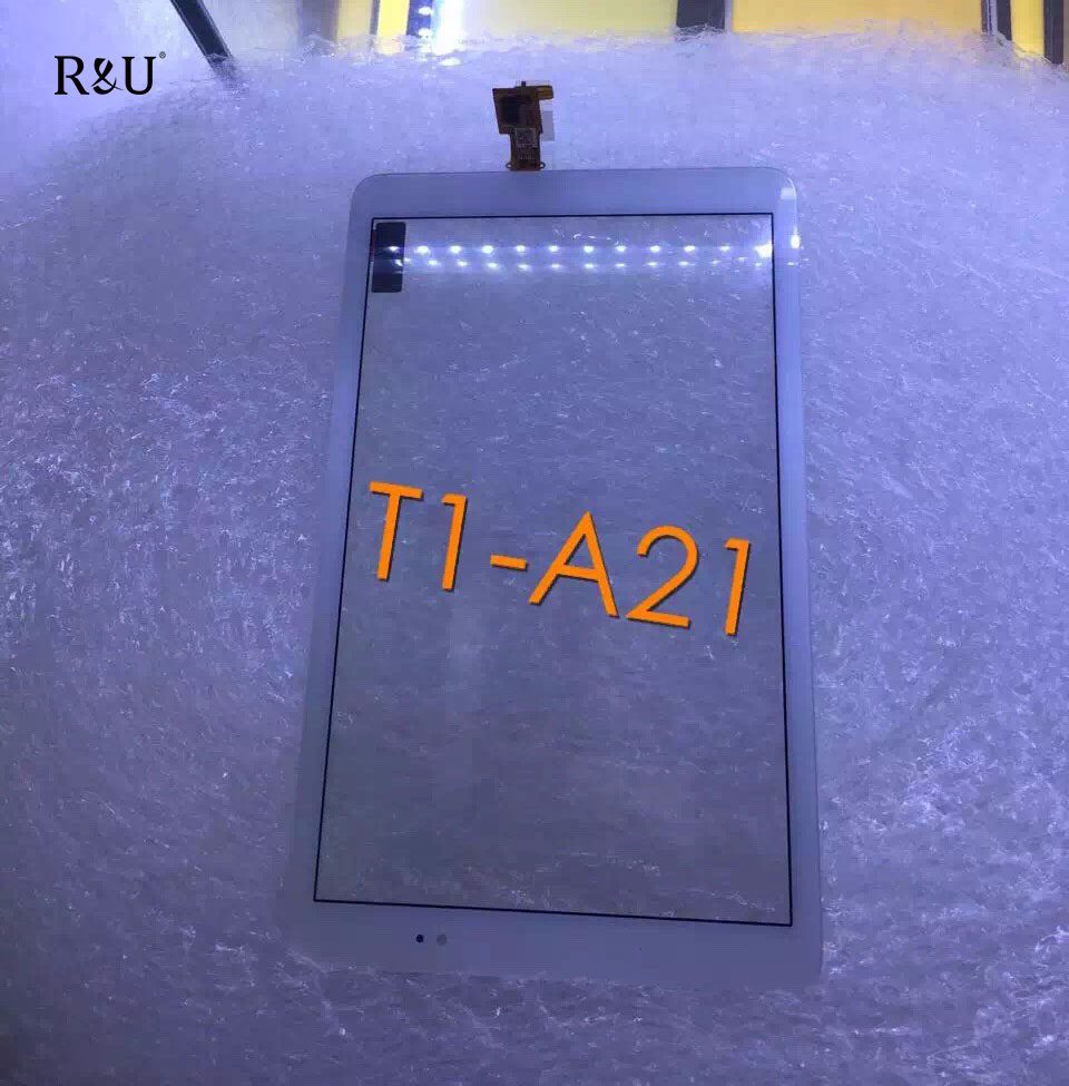 R&U Touch Screen Panel LCD Digitizer Sensor Glass white color For Huawei T1-A21 Mediapad T1 10 Pro LTE T1-A21L