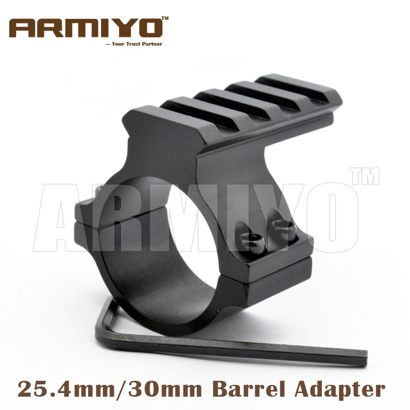 Armiyo Barrel Mount Adapter 25.4mm / 30mm Ring Fixed Flashlight Laser Scope Hunting