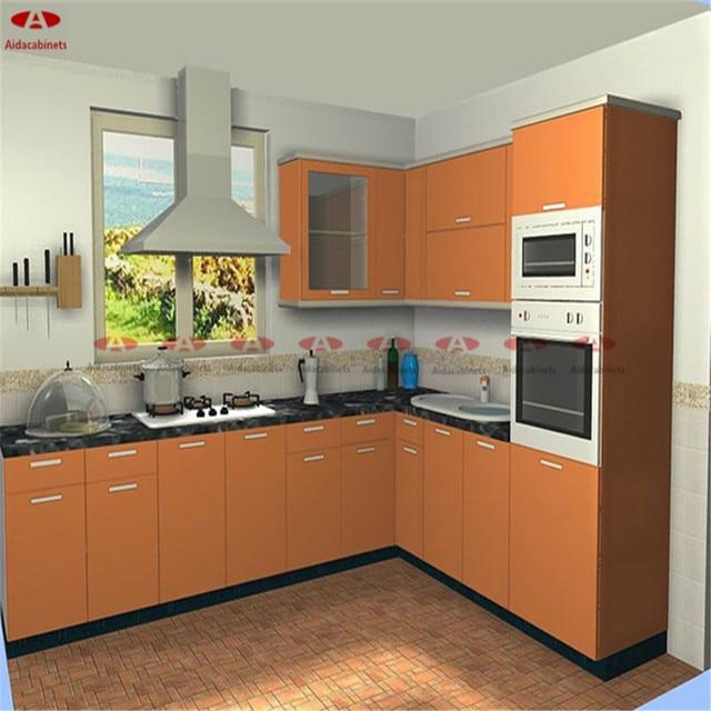 Stainless Steel Modular Kitchen Cabinets Chandigarh: 201/304 Stainless Steel Dinding Dapur Kabinet Gantung