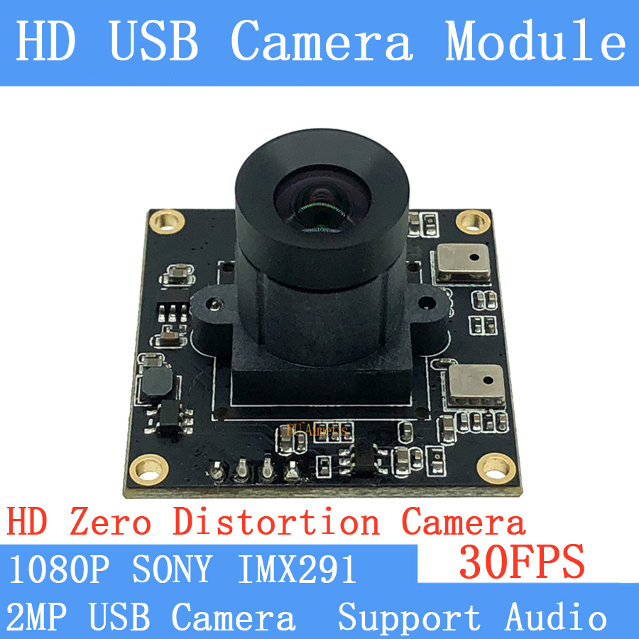 2MP CCTV Non Distortion <font><b>camera</b></font> Star Light Low illumination SONY <font><b>IMX291</b></font> HD 1080P Webcam UVC 30FPS USB <font><b>Camera</b></font> <font><b>Module</b></font> Support audio image