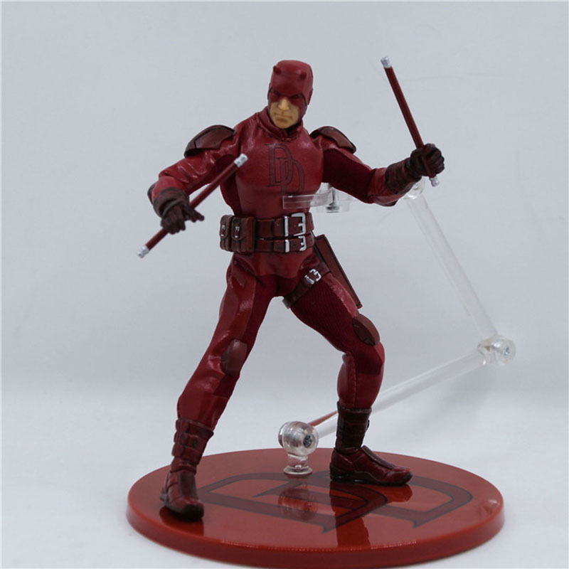 Free Shipping 6 Super Hero Daredevil Matt Murdock Real Cloth Ver Boxed 15cm PVC Action Figure Collection Model Doll Toys Gift free shipping 7 anime super sonico with macaroon tower boxed 17cm pvc action figure collection model doll toy gift