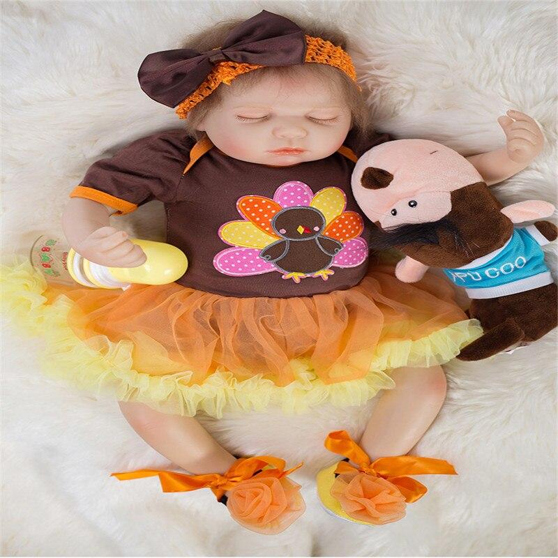 Здесь продается  20 inch 50 cm Silicone baby reborn dolls, lifelike doll reborn Beautiful princess sleeping doll christmas gift  Игрушки и Хобби