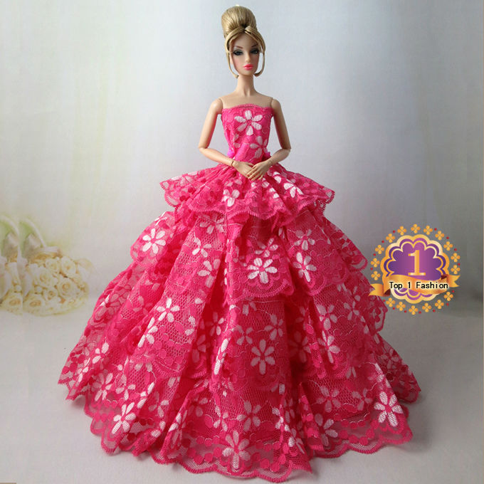 new arrvial children girl gift high quality collection elegant dress for barbie doll dress