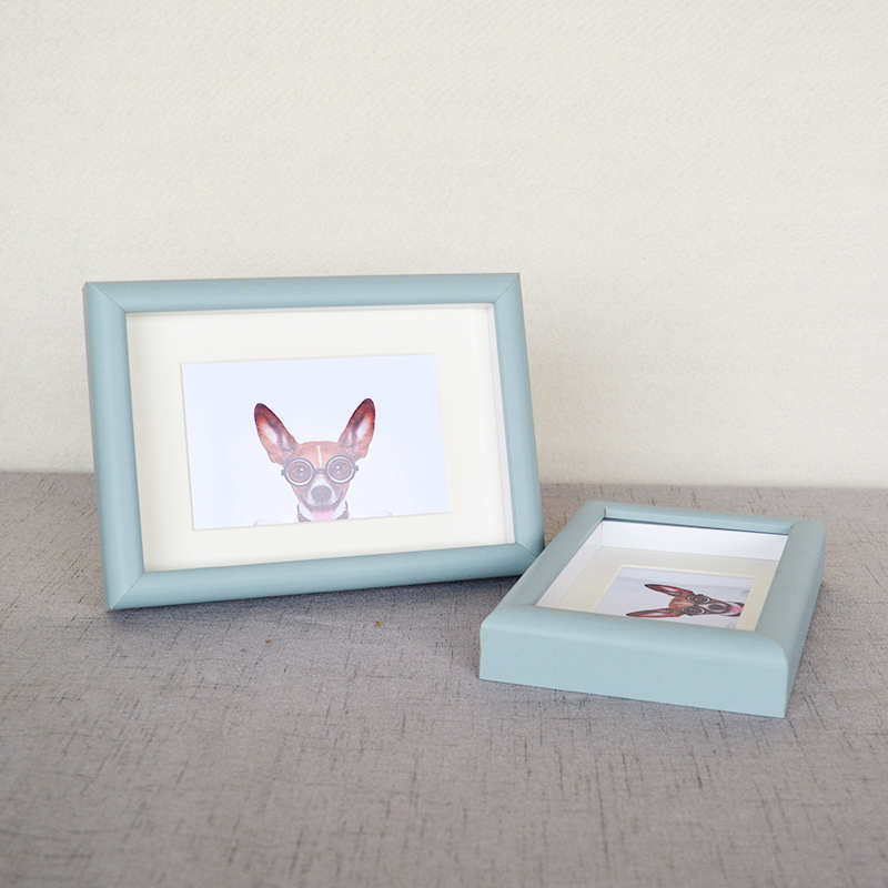 Marco sombra caja marco de madera para foto 6x8 pulgadas marco U.S.A ...
