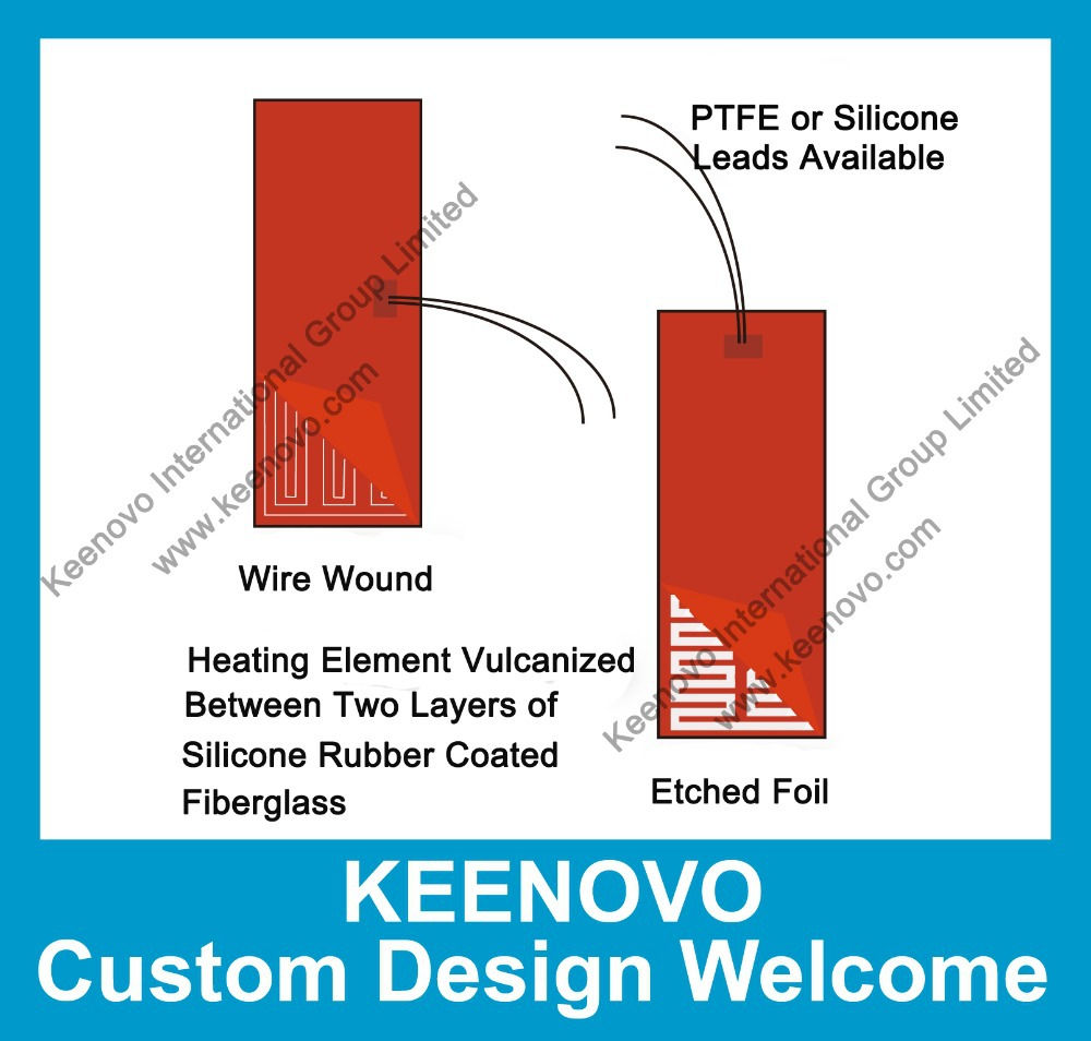 Keenovo custom designed flexible silicone heater heating thermal mat pad blanket element high quality guaranteed free