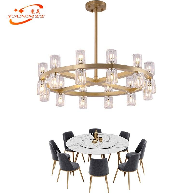 New Arrival Modern LED Crystal Chandelier Hanging Lighting Restaurant Living Dining Room Round Cristal Chandelier Light