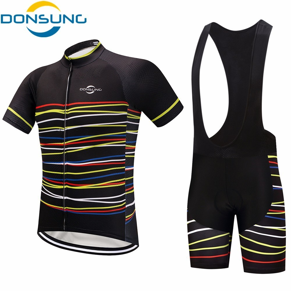 Biking Jersey Set Pro Bicycle Wear Maillot Ropa Ciclismo Short Sleeve Breathable Cycling Jersey set With Bike Cycling Bib Shorts rusuoo k01007 bicycle cycling jersey bib shorts set white black size xl 175 180cm