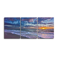 Laeacco 3 Panel Seaside Sunrise Posters and Prints Abstract  Paintings Modern Home Decoration Wall Art Pictures Living Room
