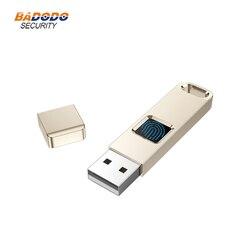 32GB 64GB linii papilarnych szyfrowane USB 2.0 dysk Flash High tech Pen Drive bezpieczeństwa pamięci dysk USB Stick w Urządzenie do rozpoznawania odcisków palców od Bezpieczeństwo i ochrona na