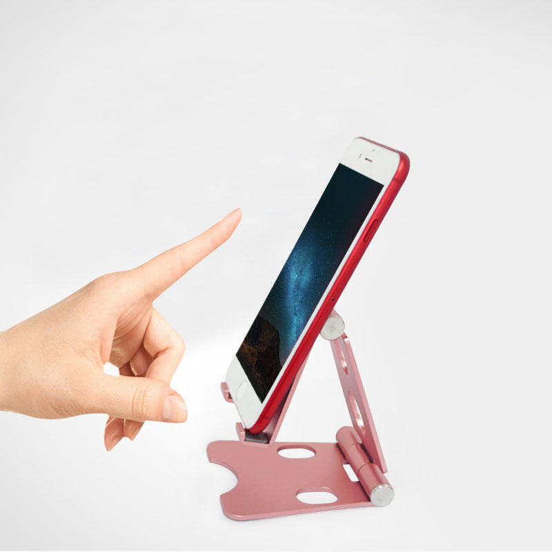 2 Axis Mobile Phone Desk Holders Aluminum Alloy Stands Adjustable For 10 Inches Phone Tablet Bracket Stand 2.5mm Thinckness Reliable Performance Mobile Phone Holders & Stands