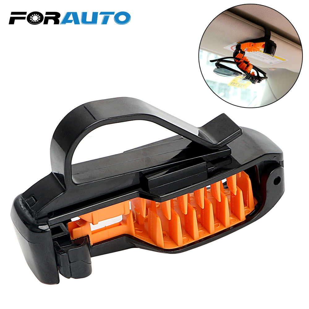 FORAUTO Car Sun Visor Sunglasses Holder ABS Car Glasses Cases Eyeglasses Clip Fastener Clip Universal Portable Car-styling