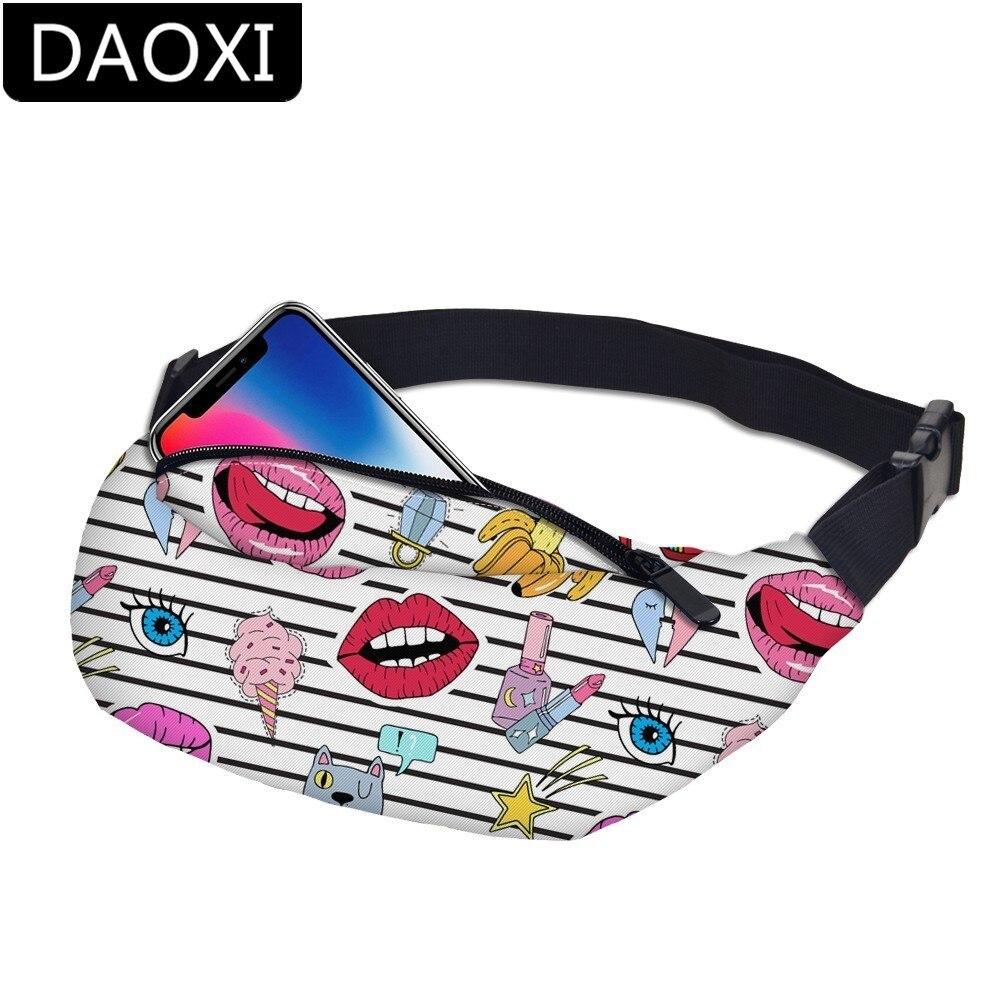 DAOXI Emoji Fanny Packs Girls Waist Bag For Men Money Belt Travelling Mobile Phone Bag DXYB-19