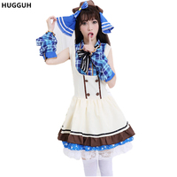 Cute Halloween Maid Masquerade Cosplay Costumes Cafe Anime Love Live Candy Cosine Maid Outfits Fantasy Female