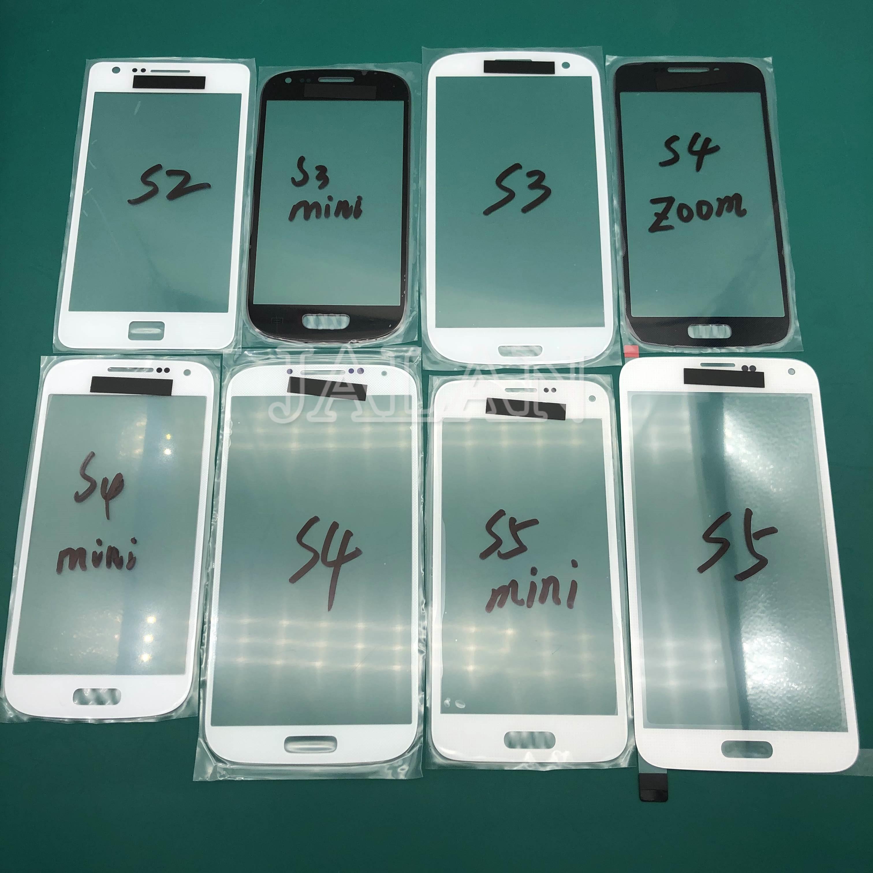 Jalan 5 Pcs untuk SM S4/S4 Mini/S4 Zoom Depan Kaca Touch I9500 I9190 C101 Retak Kaca pengganti Sentuh Layar Perbaikan