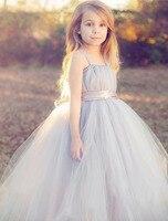 Tutu Solid White Baby Bridesmaid Flower Girl Wedding Dress Tulle Fluffy Ball Gown USA Birthday