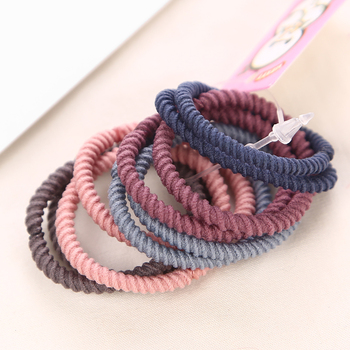10PCS/Lot 3CM Girls Fashion Color Elastic Hair Band Lovely Kids Children Hair Ropes Hair Accessories Mix Rubber Bands Headwear 1