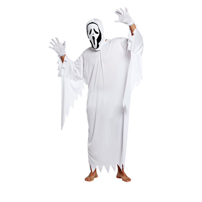 noenname white ghost halloween kids costume cosplay game performance clothing the evil terrorist elf halloween party demon in boys costumes from novelty
