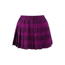 Danganronpa Akamatsu kaede Cosplay Costume Purple pleated Skirt musical note Printed Girl Women Dress Anime
