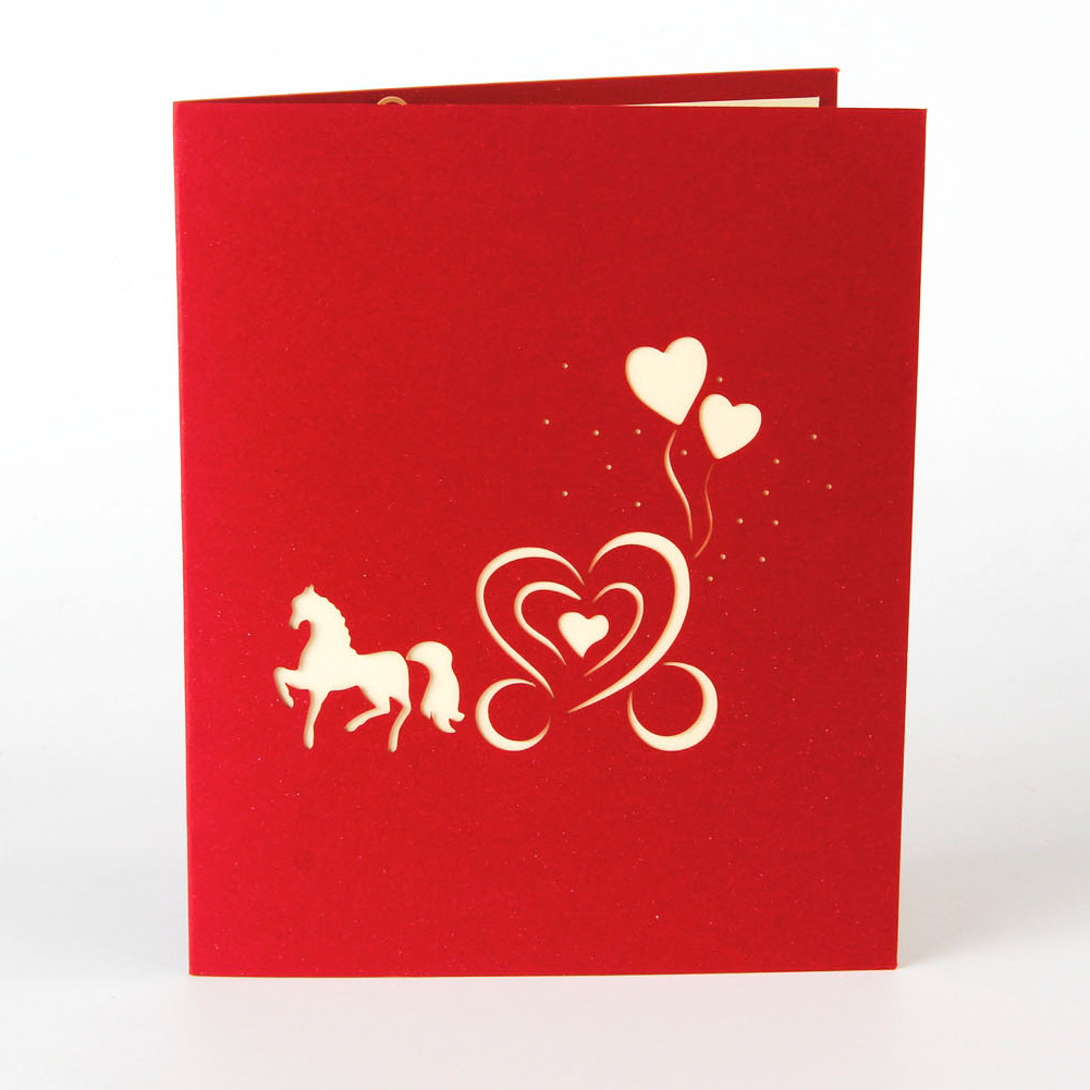 Keythemelife 3D Carriage cards postcard 13cm*16cm Pop Up paper ...