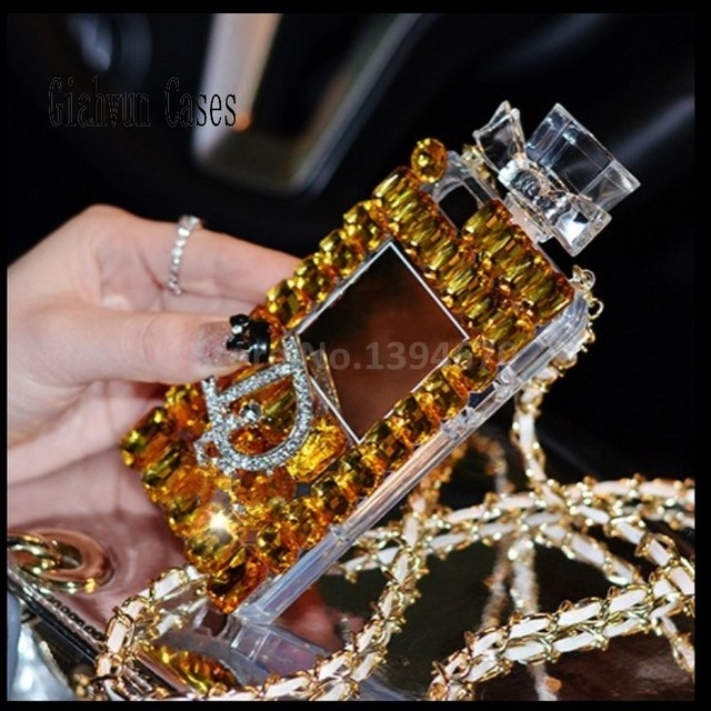 Bling kristal elmas kordon zinciri TPU arka kapak için Apple iPhone 11 Pro Max 6 6S artı 7 8 8 artı X XS XR XSMAX telefon kılıfı