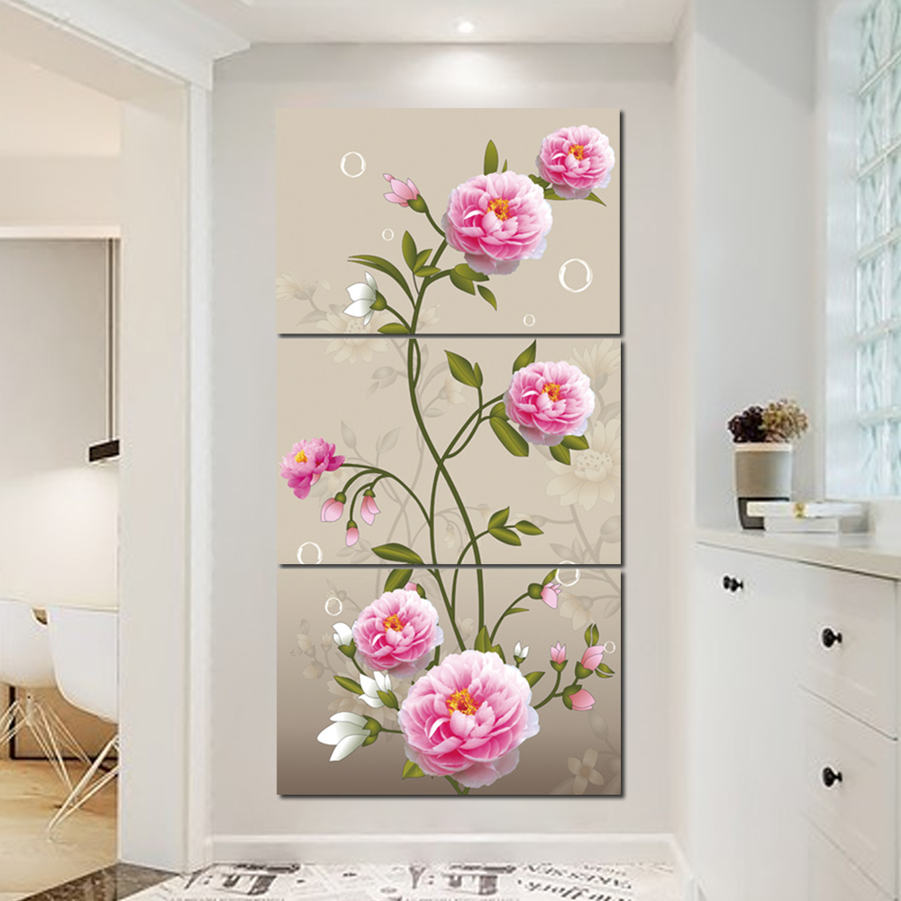Unframed HD Canvas Painting Begonia Flower Giclee Wall Decor For Living Room Bedroom Decorative Painting Unframed Free Shipping