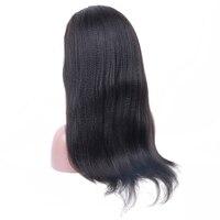250 плотность Синтетические волосы на кружеве человеческих волос Парики бразильского итальянский яки Реми парики 13x4 предварительно сорвал
