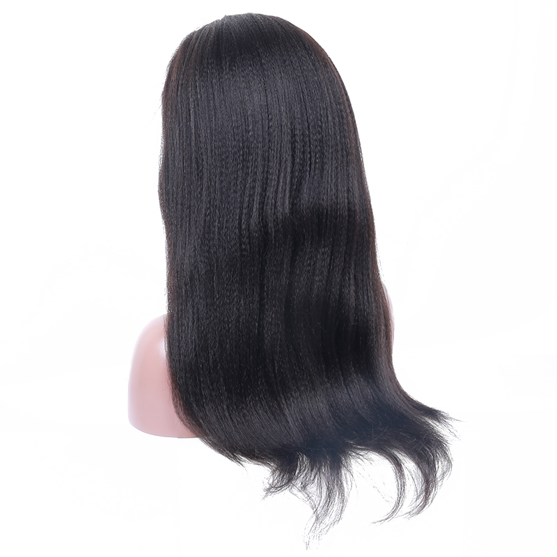 250% Density Lace Front Human Hair Wigs Brazilian Italian Yaki Remy Wigs Pre Plucked With Baby Hair Natural Hairline Sunny Queen