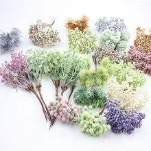6 шт. искусственный цветок искусственная трава Свадебные Рождественские украшения венок украшения ручной работы аксессуары искусственные растения
