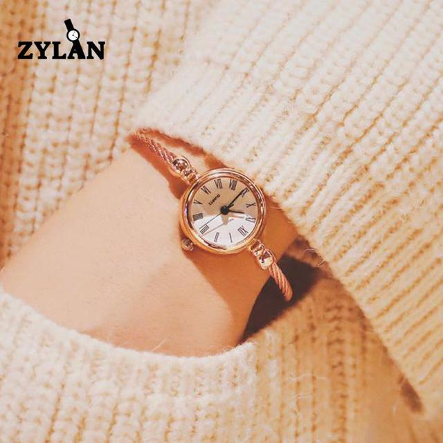 ZYLAN Exquisite Classical Retro Women Bracelet Watches Slim Band Small Ladies Ca