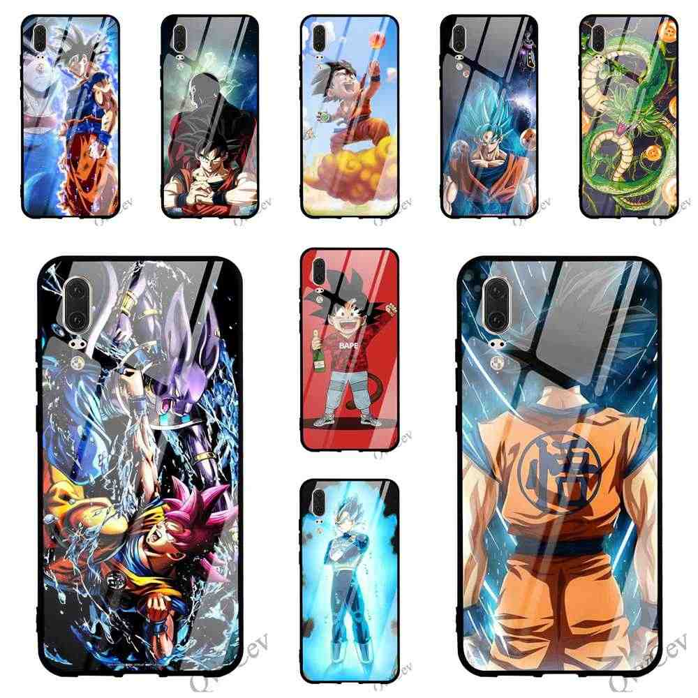 Protective Dragon Ball Son Glass Phone Cover for Huawei P20 Pro Case 10 7A Y6 Y9 Honor 9 P10 Lite P Smart Mate 20 Covers Back