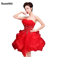 Suosikki Vestido de noiva strapless wine asymmetrical cocktail dresses sexy formal evening party gown Mini dresses