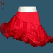Women Latin Dance Skirt Yellow/Red/Black/Rose Cha Cha/Rumba/Samba/Ballroom Short Dance Skirts Dancewear Vestido Baile Latino
