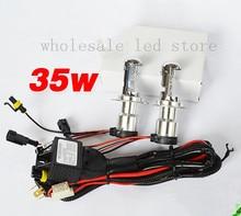 Buy 1sets FREE SHIPPING H4 Telescopic HID XENON Lamp H4-3 12V 35W AC Car Headlight Single Beam Auto Bulb 4300K 6000K 8000K