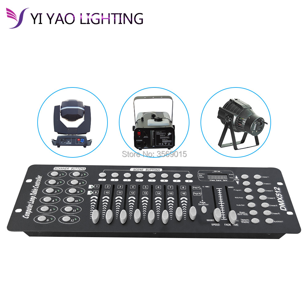 192 DMX Stage Lighting DJ Equipment Console For Led Par Moving Head Spotlights