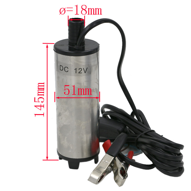 51MM DC 12v water oil diesel fuel transfer pump submersible pump scar camping fishing submersible switch stainless steel 12v dc diesel fuel water oil car camping fishing submersible transfer pump