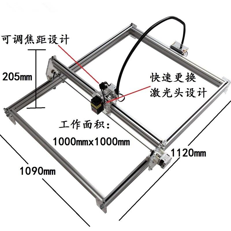15 w Mini bureau bricolage Laser gravure graveur machine de découpe marque sur métal 100*100 cm grand worke zone laser cutter 10 w, 15 w - 2