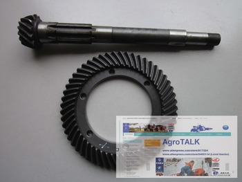 set of spiral bevel gear with shaft for Shandong Taishan TS254- TS304 tractor, part number: 250.37.101-1 250.37A.180