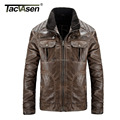TACVASEN Europe large size Leather Jacket men Brand Male  Motorcycle Biker Men's Coat Military Army Tactical Jacket men SSGB-002